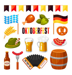 oktoberfest german celebration flat vector image