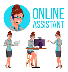 online assistant woman consulting client vector image