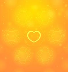 Orange heart vector image