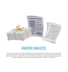 Paper waste sample colorful vector