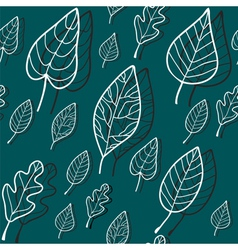 pattern blue leaves vector image