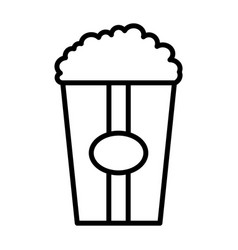 popcorn line icon vector image