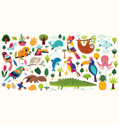 Poster with cute animals vector