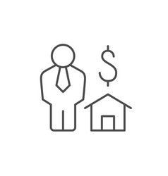 real estate agent line outline icon vector image
