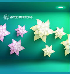 realistic floral light flower template vector image