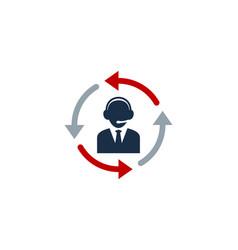 redial call center logo icon design vector image