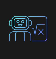 Robotics in education gradient icon for dark theme vector