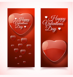 Romantic decorative vertical banners vector