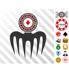 Roulette spectre monster icon with bonus vector