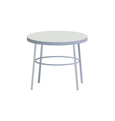 Rounded white table object vector