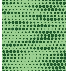Seamless green halftone background vector image