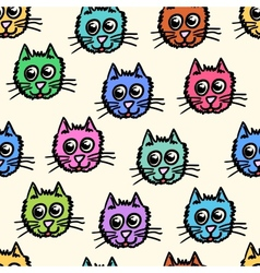 Seamless pattern of the cats vector