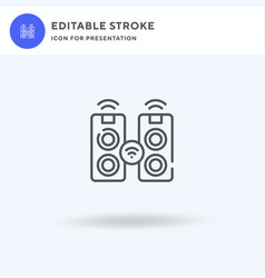 Speaker icon filled flat sign solid vector