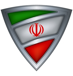 steel shield with flag iran vector image