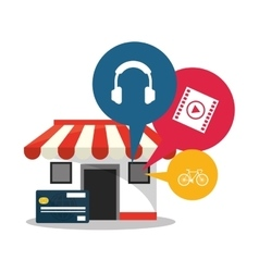 Store and shopping online design vector