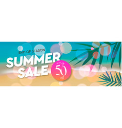 summer sale template web banner end season up vector image