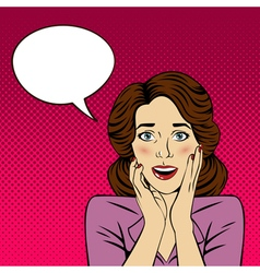 Surprised Woman with Bubble for Expression vector