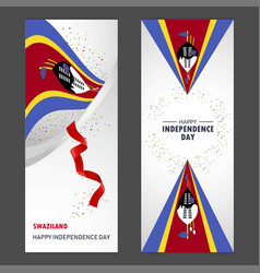Swaziland happy independence day confetti vector