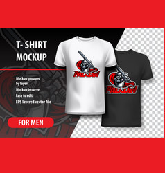 T-shirt template paladin in attack vector