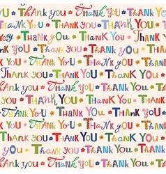 Thank you Colorful seamless pattern vector
