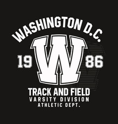washington typography for t-shirt print track and vector image