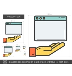 Webpage line icon vector image