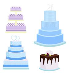 wedding cake pie sweets dessert bakery flat vector image