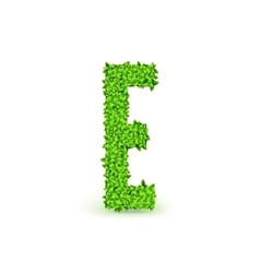 Green Leaves font E vector image vector image