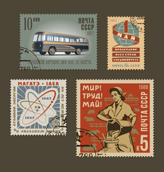 Postage stamps 1 vector image vector image