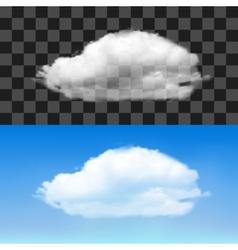 Realistic cloud vector image vector image