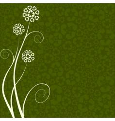 recycling flower vector image vector image