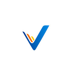 abstract letter v company logo vector image