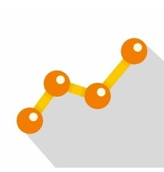 Chart statistics line icon flat style vector image vector image