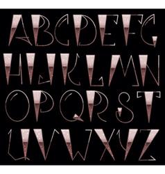 Complete English Alphabet vector image