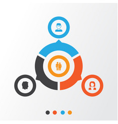 people icons set collection of beloveds vector image vector image