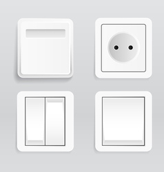 Plugs and switches vector image vector image