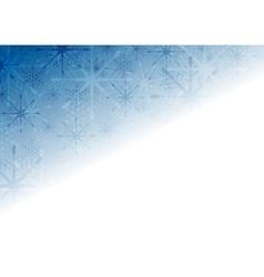 Shiny blue Christmas holiday background vector image