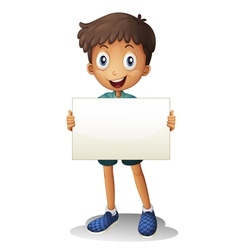 a boy with white paper vector image vector image