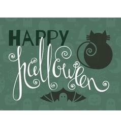 Happy halloween vintage poster vector