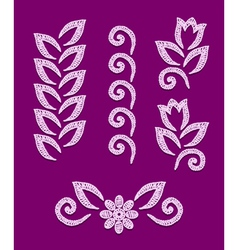 Openwork lace elements vector image vector image