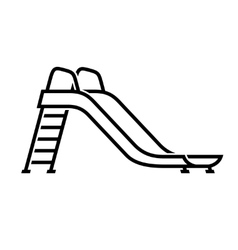Slide playground for children icon vector image vector image
