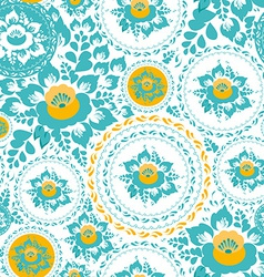 Vintage shabby Chic Seamless ornament pattern with vector image vector image