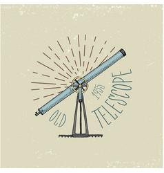binocular logo emblem or label astronomical vector image vector image