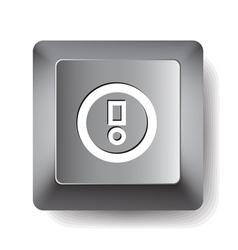 Computer key vector image