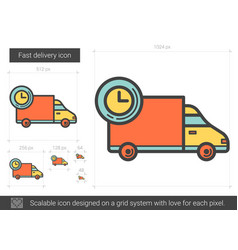Fast delivery line icon vector