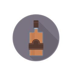 icon of alcohol bottle with good old rum vector image vector image