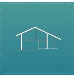 Modern house icon sign and button vector image