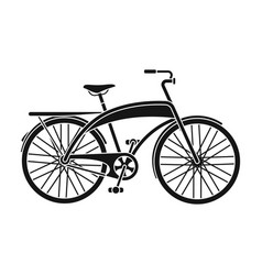 road bike for walking with a semicircular frame vector image