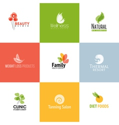 Set of beauty and nature logo templates vector image vector image
