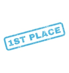 1St Place Rubber Stamp vector